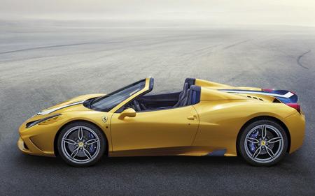 عکس ماشین فراری زرد ferrari car yellow