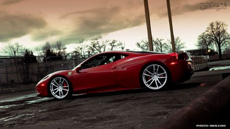آخرین مدل ماشین فرارری قرمز red ferrari wallpaper