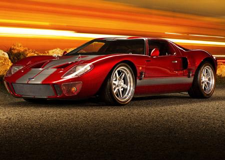 عکس ماشین سوپرکار فورد قرمز ford gt40 supercar