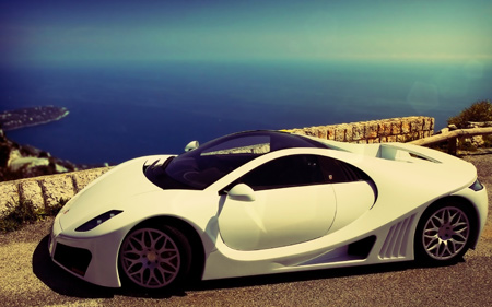 عکس ماشین جی تی ای اسپانو سفید gta spani supercars