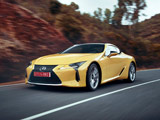 والپیپر ماشین لکسوس زرد در جاده