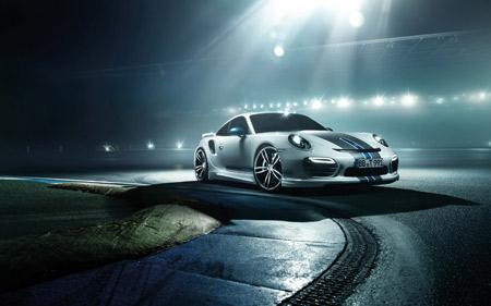 ماشین پورشه توربه سفید porsche 911 turbo