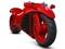 موتورسیکلت قرمز فراری