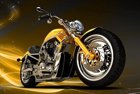 تصویر گرافیکی موتورسیکلت خفن bike wallpaper 3d