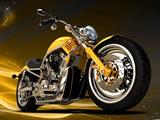 تصویر گرافیکی موتورسیکلت خفن