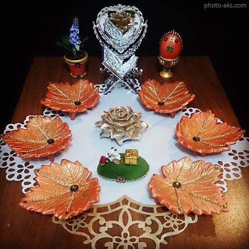 خوشگل ترین مدل های تزئین و طراحی سفره 7 سین ایرانی عید نوروز