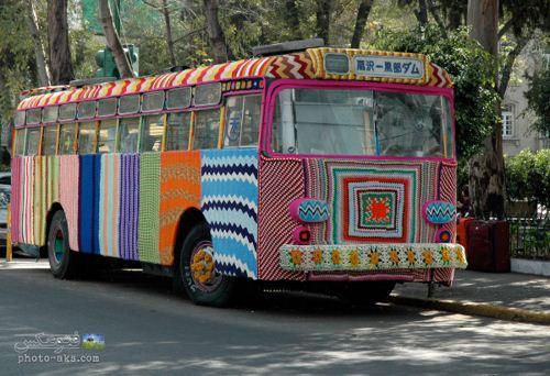 عکس اتوبوس جالب و تزئین شده در هنگ کنگ