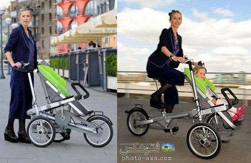 ایده و طرح خلاقانه دوچرخه وچرخ دستی بچه ها
