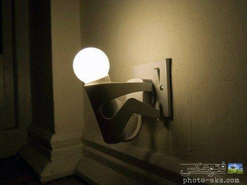 خلاقیت در ساخت لامپ