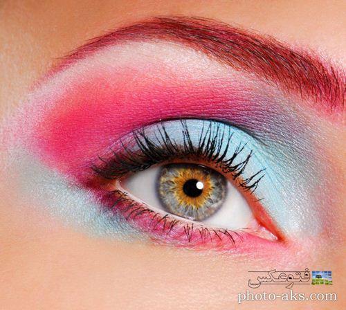 عکس آرایش صورتی و بسیار زیبای چشم دختر