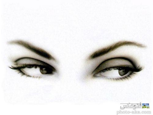 نقاشی سیاه قلیم چشم و ابروی دختر و زن