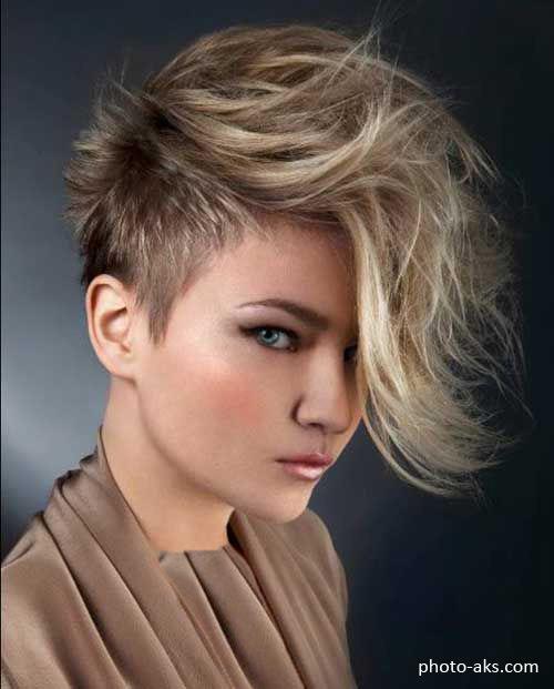 مدل مو کوتاه فشن و جذاب خیلی خفن خامه ای دخترانه و زنانه