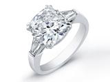 حلقه تیتانیوم با نگین بزرگ الماس
