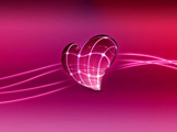 پوستر قلب صورتی سه بعدی