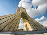 نمای زیبای برج آزادی