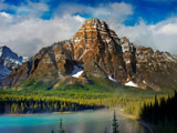 منظره کوهستان زیبا