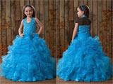 مدل لباس عروس بچه گانه آبی
