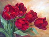 نقاشی شاخه گلهای شقایق